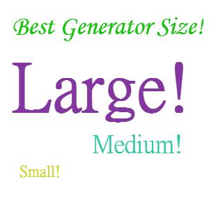 home generator size